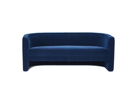 U-Series Settee upholstered in Maharam Mohair Supreme League.