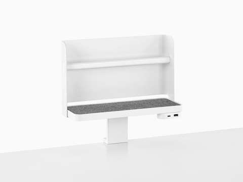 A Ubi Attached Shelf with a backdrop and USB power module.