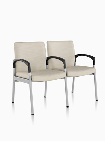 Two-seat Valor Multiple Seating with beige upholstery. Select to go to the Valor Multiple Seating product page.