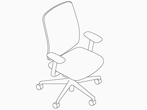 A line drawing of a Verus Chair.