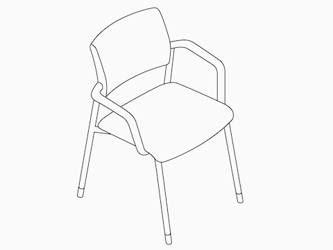 A line drawing of a Verus Side Chair .