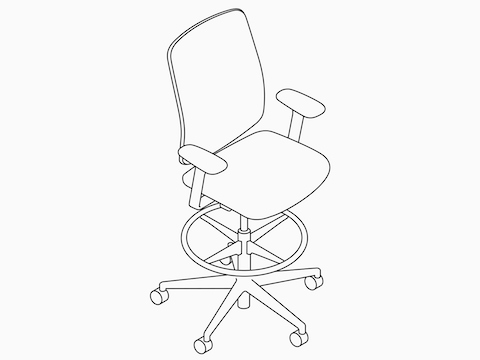 Line drawing of a Verus Stool.