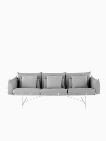 Gray Wireframe Sofa.