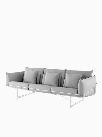 Gray Wireframe Sofa. Select to go to the Wireframe Sofa Group product page.