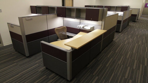 A campus administrative area outfitted with Canvas Office Landscape.