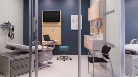 Herman Miller healthcare furnishings arrangement