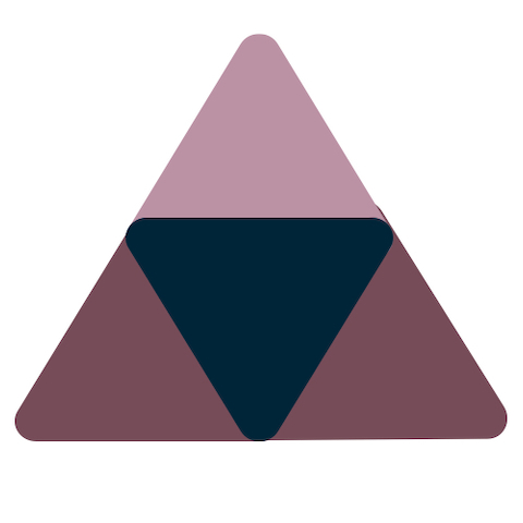 A set of triangles in various colors.