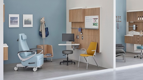 Compass System tiles support technology and equipment in an exam room.