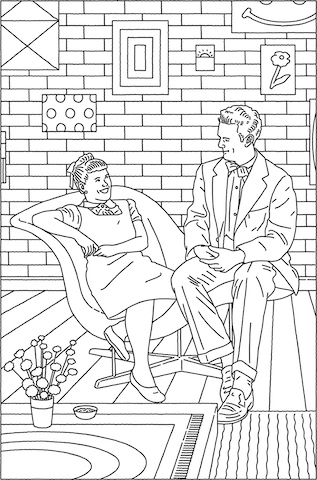 Charles and Ray Coloring Page
