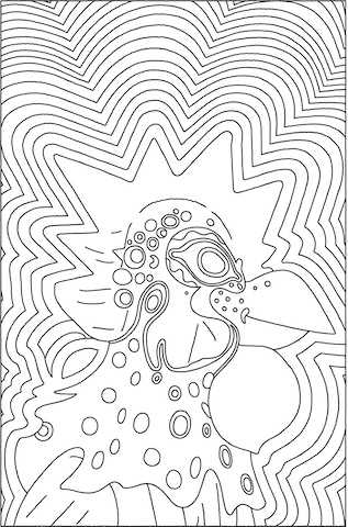 Toy Mask Coloring Page