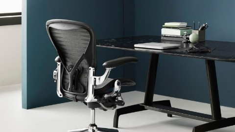 A Haven Setting with an Aeron Chair, where people can do focused work without distraction.