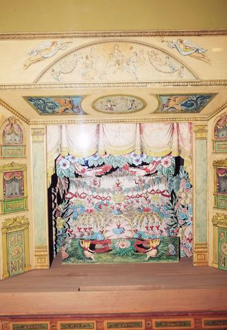 Girard played with paper theaters like this one from Great Britain when he was a child. It could begin to explain his penchant for creating worlds within worlds.