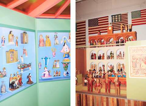 Religious and spiritual iconography and articfacts figure heavily in the display. A musical procession unites performers from various cultures.