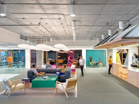 Designed by O+A, Cisco's San Francisco offices offer a varied