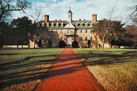 Wren Building at William and Mary College, Williamsburg, Virginia.