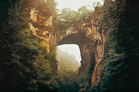 The Natural Bridge in Virginia.