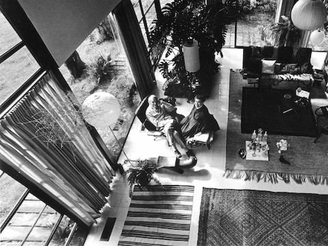 Charles and Ray Eames in their California home