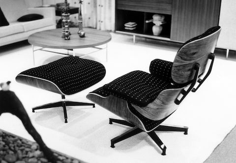 Eames Lounge Stoel.An Eames Lounge Chair In Fabric Herman Miller