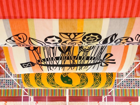 This banner was sewn by Girard for the 1975 Walker Art Center exhibit,