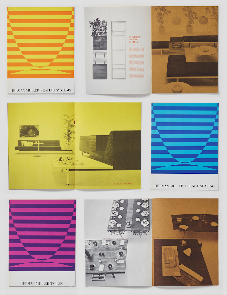 Tomoko Miho catalog designs for Herman Miller