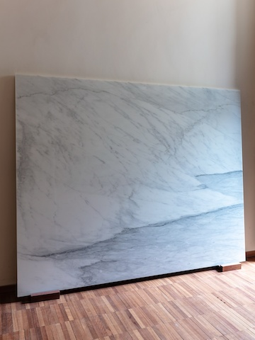 Marble art in Anastassiades's home