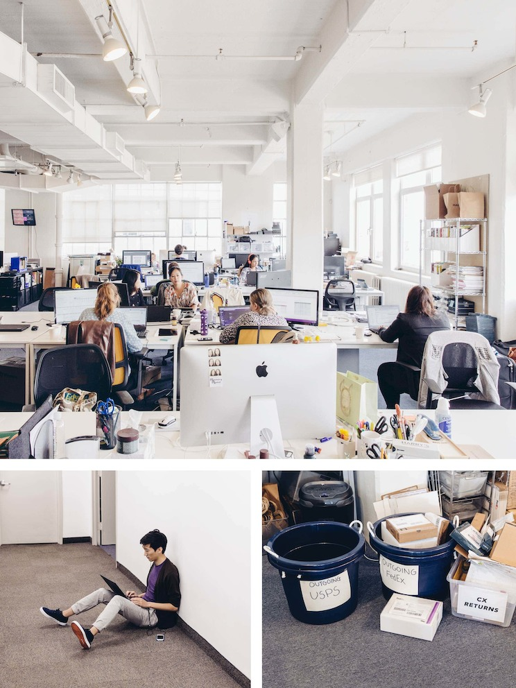 The vast, open workspace at Harry's former headquarters was full of energy, but also loud and cluttered.