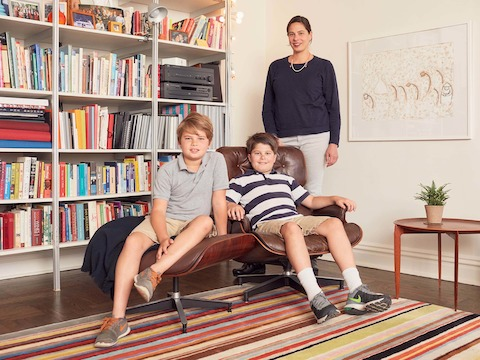 Monica Molenaar and her sons