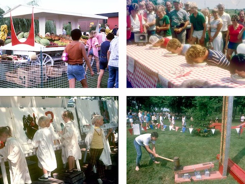 A selection of archival photographs of picnics from years past.