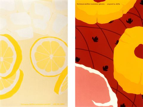 LEFT: 1980 Lemonade Poster RIGHT: 1976 Ham Poster