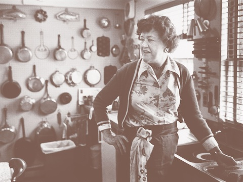 Julia Child in her kitchen, 1977. THF286977