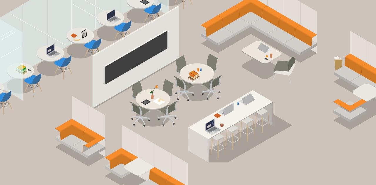 Ideal settings herman miller for Living office concept