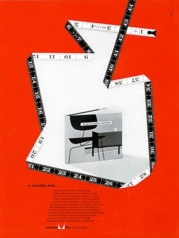 Herman Miller Collection catalog print advertisement by Irving Harper for Herman Miller, 1952