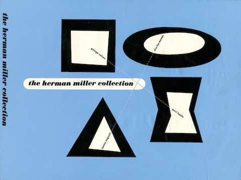 Herman Miller Collection catalog cover design by Irving Harper, 1948