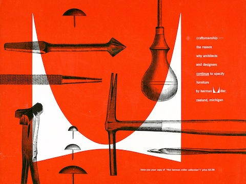 Print advertisement by Irving Harper for Herman Miller, 1948