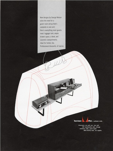 Print advertisement by Irving Harper for Herman Miller, 1949
