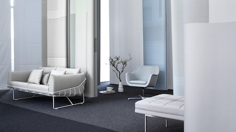 A Wireframe Sofa and a Bumper Chair. Select to read a WHY Magazine article about designers Stefan Scholten and Carole Baijings.