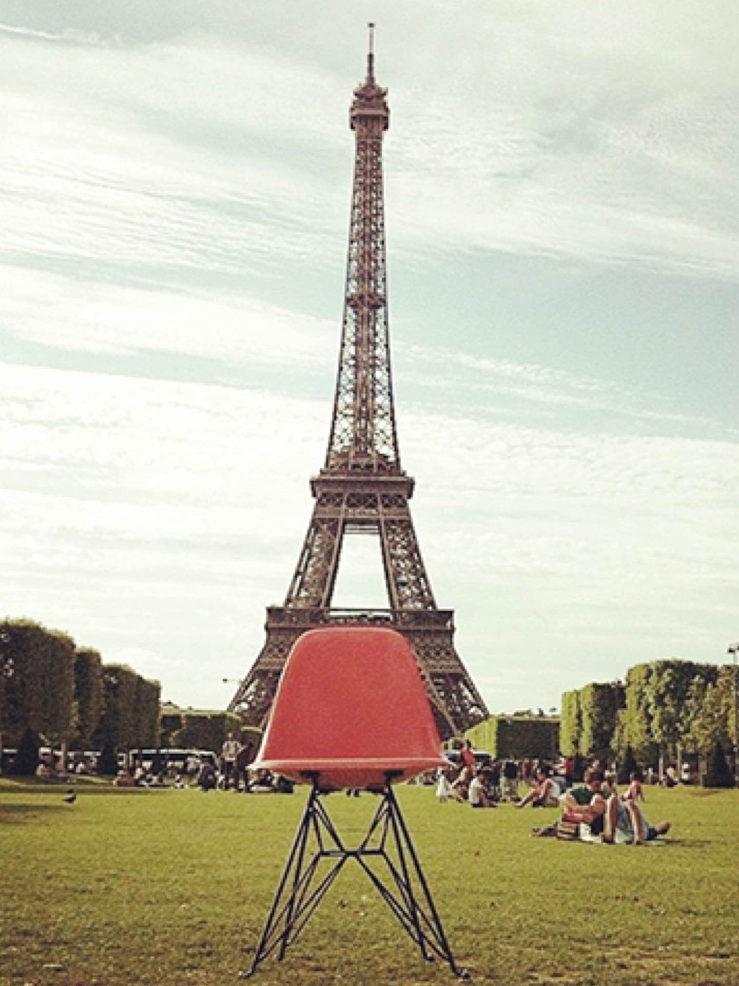 Today's #shellspotting #regram comes from #Eamessuper fans @vanityvintage, a graphic design duo living in Antwerp, Belgium. We were curious about anybody who'd take their vintage Shell Chair with them on vacation to Paris, so #WHYHM asked them to tell us a little more about their collection. Here's what they had to say: