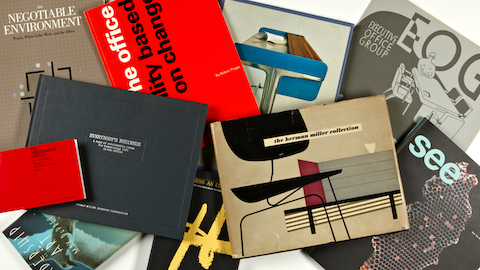 Samples of Herman Miller literature. Select to read an overview of Herman Miller's research into the changing landscape of work.