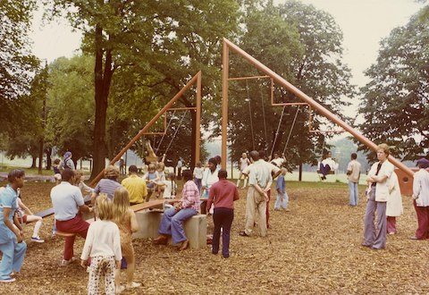 Playscapes, Piedmont Park, Atlanta, GA., 1976.
