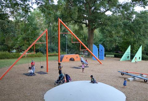 Renovated Playscapes, Piedmont Park, 2014.