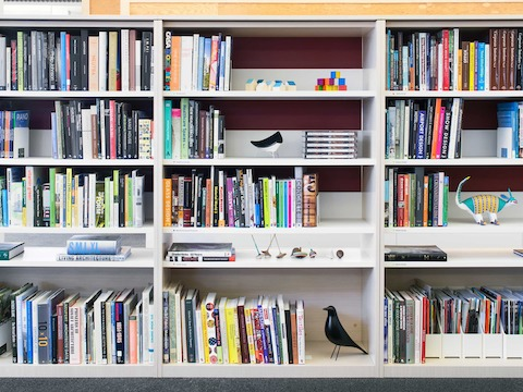 A library just off the Plaza accommodates individuals' needs for privacy and focus.