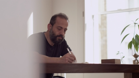 Designer Michael Anastassiades. Select to play a video featuring Anastassiades discussing his design philosophy.