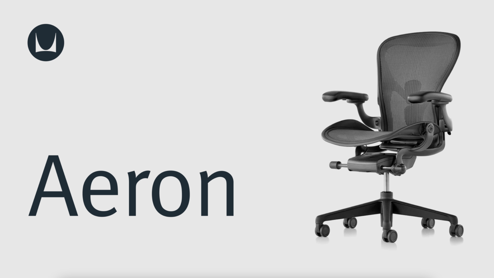 A Black Aeron Chair Viewed From An Angle