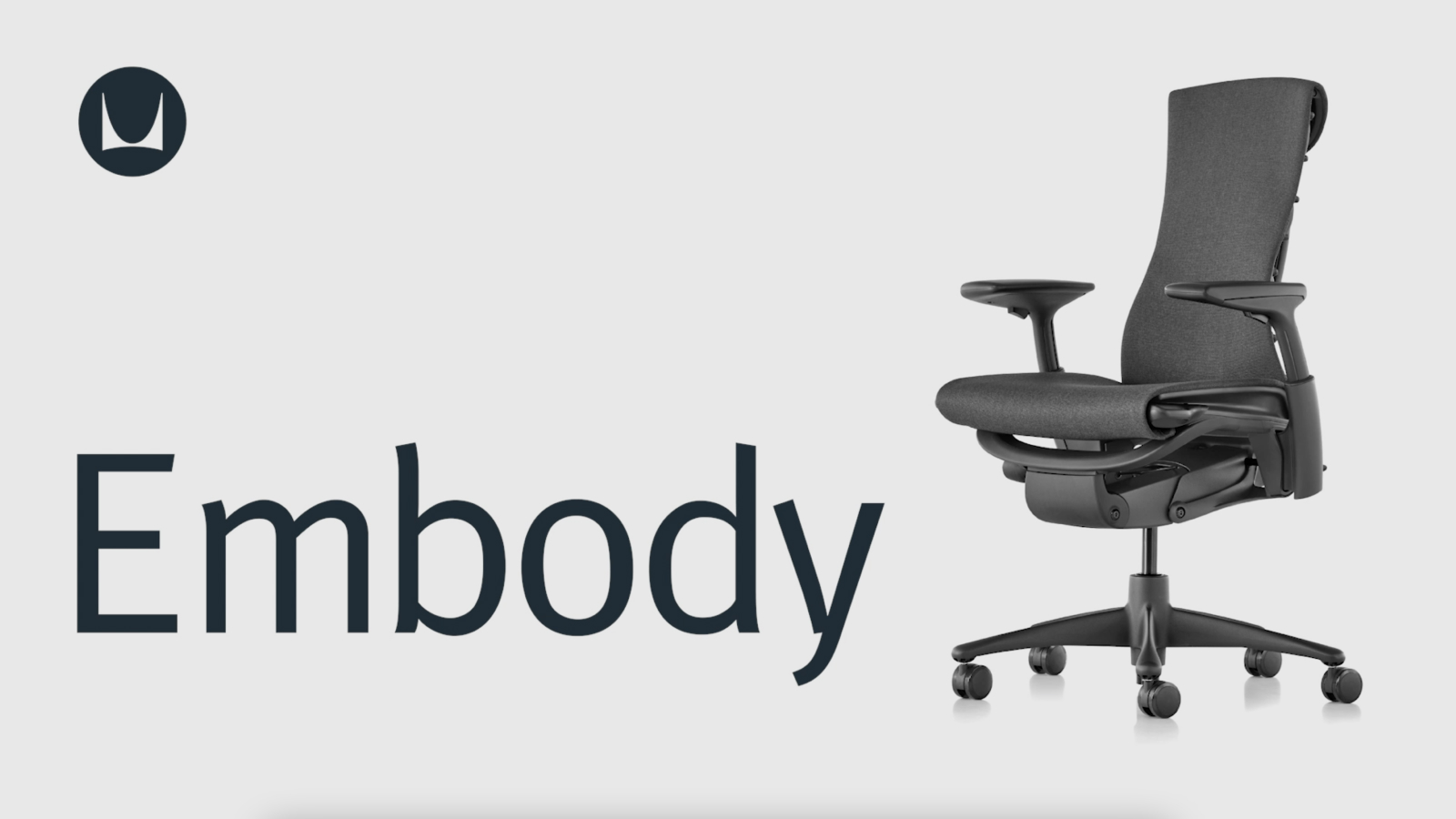 herman miller green white embody chair resale in office