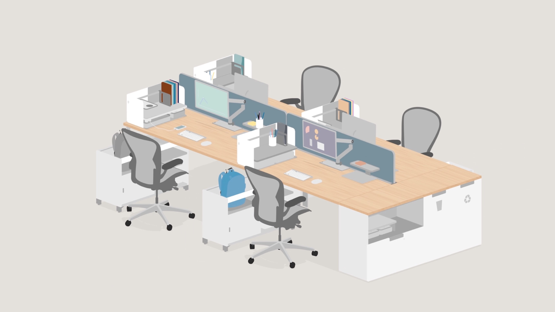 layout studio - office furniture system - herman miller