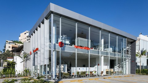 Exterior view of a Herman Miller showroom. Select to find Herman Miller showrooms around the world.