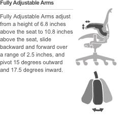 fully adjustable armsadd - Herman Miller Aeron Chair