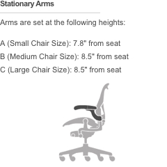 arms - Aeron Chair Sizes