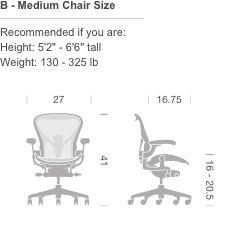 B   Medium Chair Size
