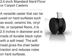 25inch standard hard floor or carpet castersadd - Herman Miller Embody Chair